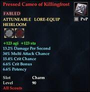 Pressed Cameo of Killingfrost