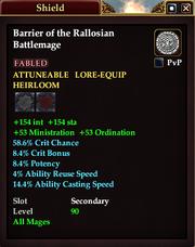 Barrier of the Rallosian Battlemage