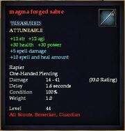 Magma forged sabre