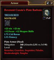 Reverent Curate's Plate Barbute