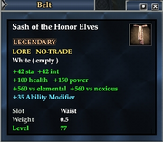 Sash of the Honor Elves