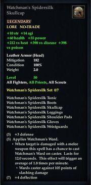 Watchman's Spidersilk Skullcap