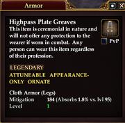 Highpass Plate Greaves