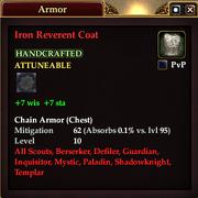 Iron Reverent Coat
