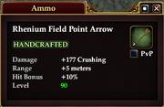 Rhenium Field Point Arrow
