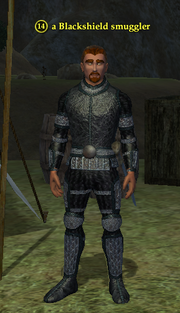A Blackshield smuggler (human)