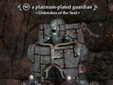 A platinum-plated guardian
