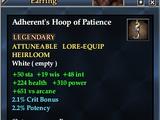 Adherent's Hoop of Patience