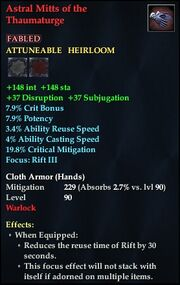 Astral Mitts of the Thaumaturge