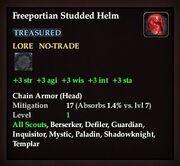 Freeportian Studded Helm