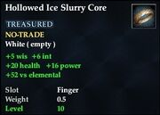 Hollowed Ice Slurry Core