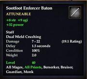 Sootfoot Enforcer Baton