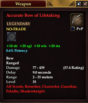 Accurate Bow of Lifetaking
