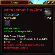 Acolyte's Wrought Plate Gloves