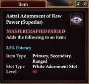 Astral Adornment of Raw Power (Superior)