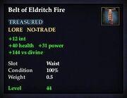 Belt of Eldritch Fire