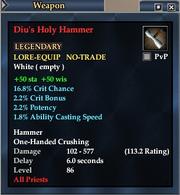Diu's Holy Hammer