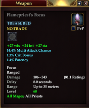 Flamepriest's Focus