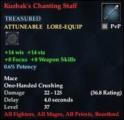 Kuzbak's Chanting Staff