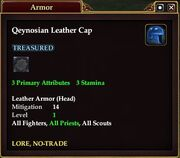 Qeynosian Leather Cap