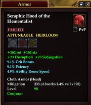 Seraphic Hood of the Elementalist