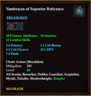 Vambraces of Superior Reticence