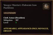 Vesspyr Warrior's Elaborate Iron Pauldrons