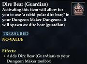 Dire Bear (Guardian)