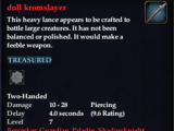 Dull kromslayer