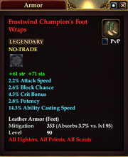 Frostwind Champion's Foot Wraps