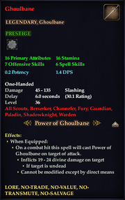 Ghoulbane (HQ Reward)