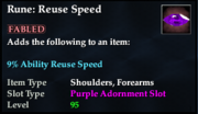 Rune- Reuse Speed