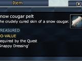 Snow cougar pelt