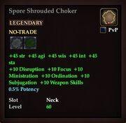 Spore Shrouded Choker