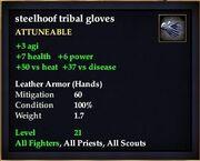 Steelhoof tribal gloves