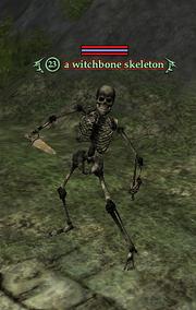 A witchbone skeleton