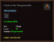 Cloak of the Weaponsmith