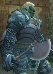 Polished Iron War Axe - Equipped