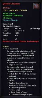 Qeynos Claymore (Weapon)