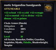 Rustic brigandine handguards