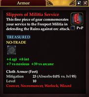 Slippers of Militia Service