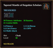 Tapered Mantle of Forgotten Scholars