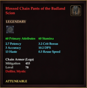 Blessed Chain Pants of the Badland Scion