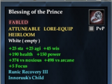 Blessing of the Prince