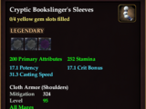 Cryptic Bookslinger's Sleeves (0 Gem)