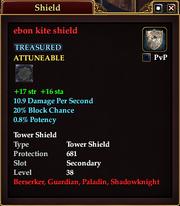Ebon kite shield