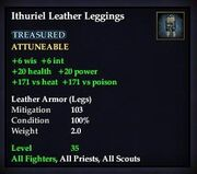 Ithuriel Leather Leggings