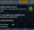 Ornate stone sconce