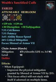 Wraith's Sanctified Cuffs