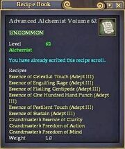 Advanced Alchemist Volume 62